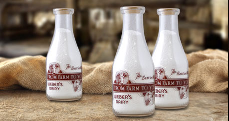 Original Weber's Farm Milk Bottles – 1900-1930's